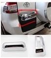 ABS chrome for toyota land cruiser prado 2700 accessories plate LICENSE FRAME for Toyota land cruiser Prado fj120 2010-2016
