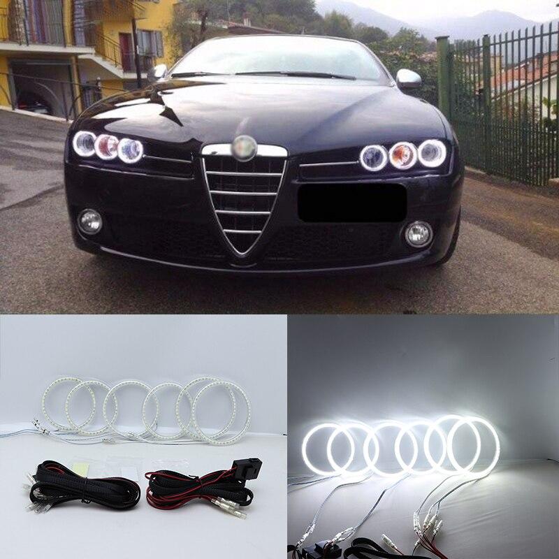 Super Bright White Color Light SMD LED Angel Eyes daytime running light DRL for Alfa Romeo