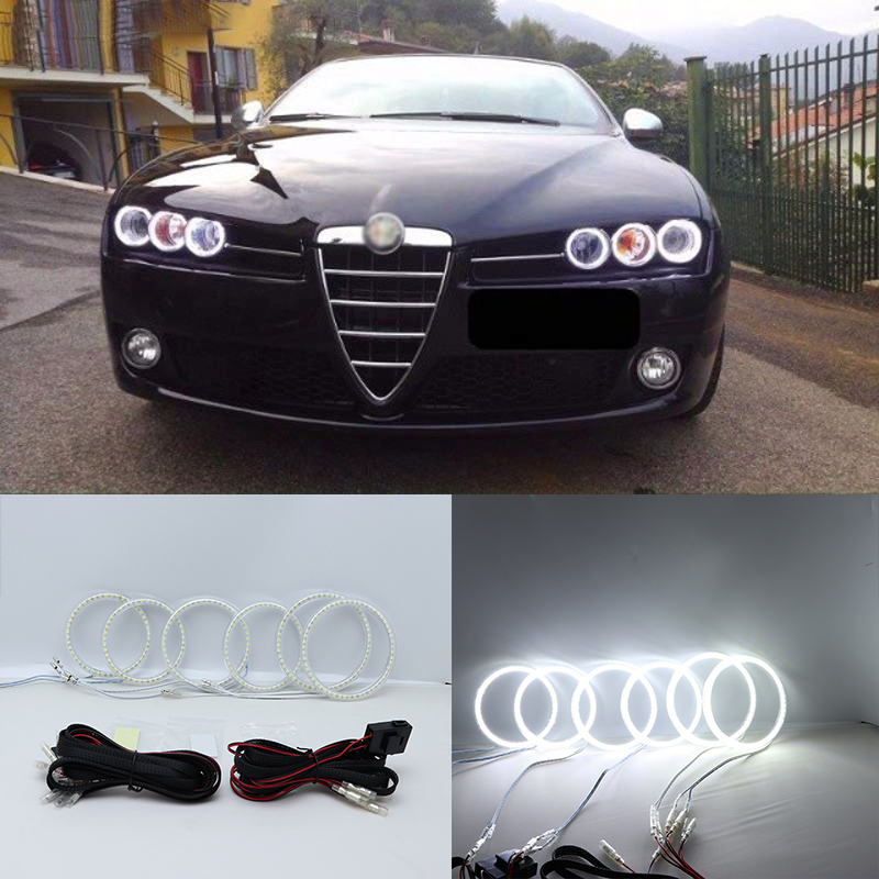 Super Bright White Color Light SMD LED Angel Eyes daytime running light DRL for Alfa Romeo Brera Spider 2005-2011 Car Styling msq pro 10pcs cosmetic makeup brushes set bulsh powder foundation eyeshadow eyeliner lip make up brush beauty tools maquiagem