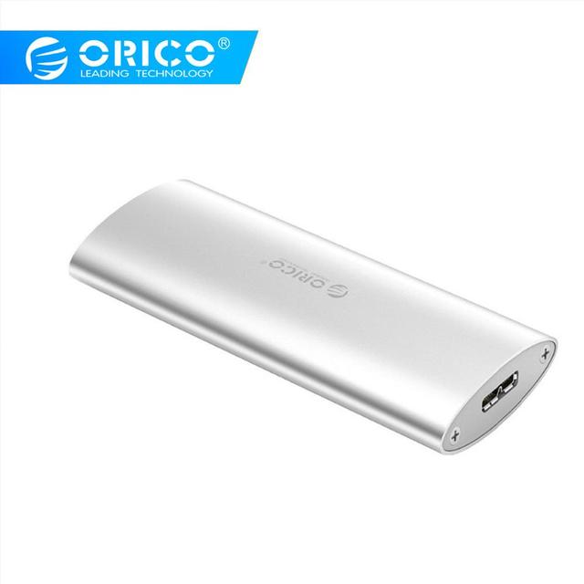 ORICO Alüminyum Alaşım M.2 Mikro B Yüksek hızlı sabit disk Sürücü Kutusu SSD Muhafaza için Mac için Linux için pencere USB3.0 (M2D-U3)