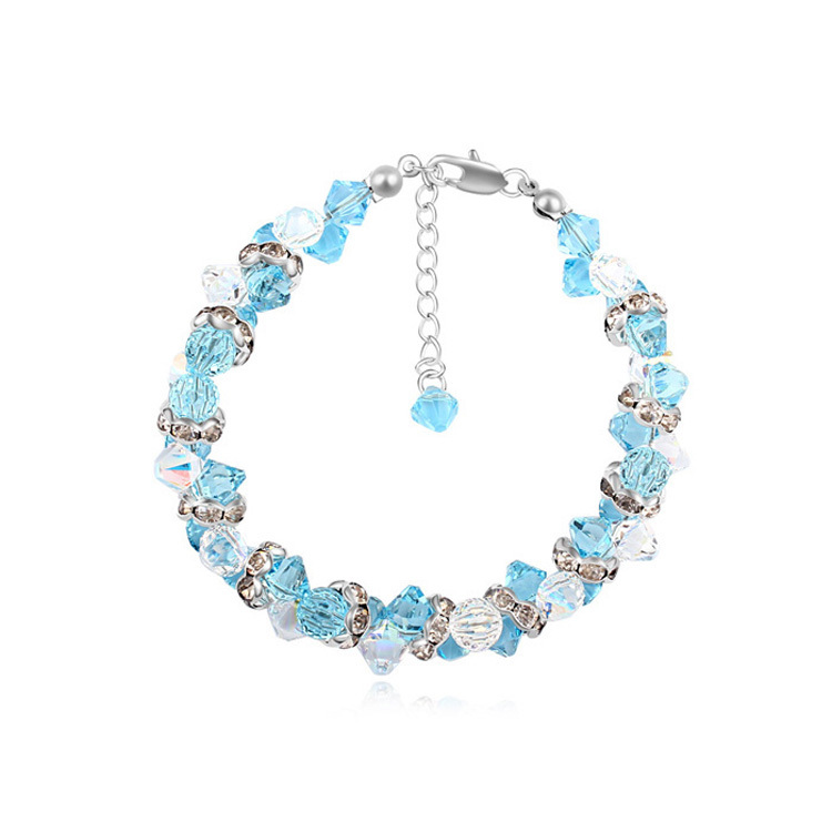 Bohemian Crystal Bracelets Pulseras Fashion Hand Chain Bijuteria for Women Made with Swarovski ELements candy coloured string hand chain bracelets