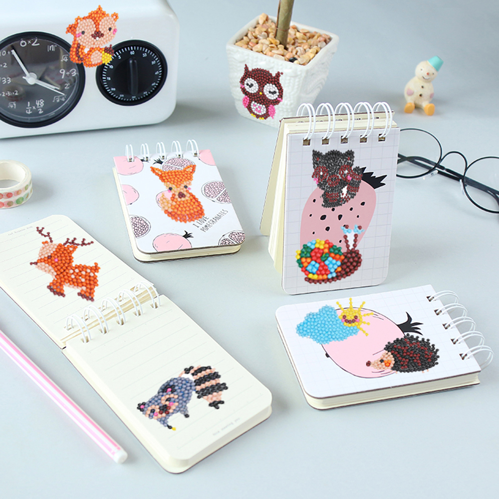 DIY Mini-Pattern Diamond Cartoon Animal Diamond Painting Embroidery Cup Book Phone Decor For Children DIY Craft Toy