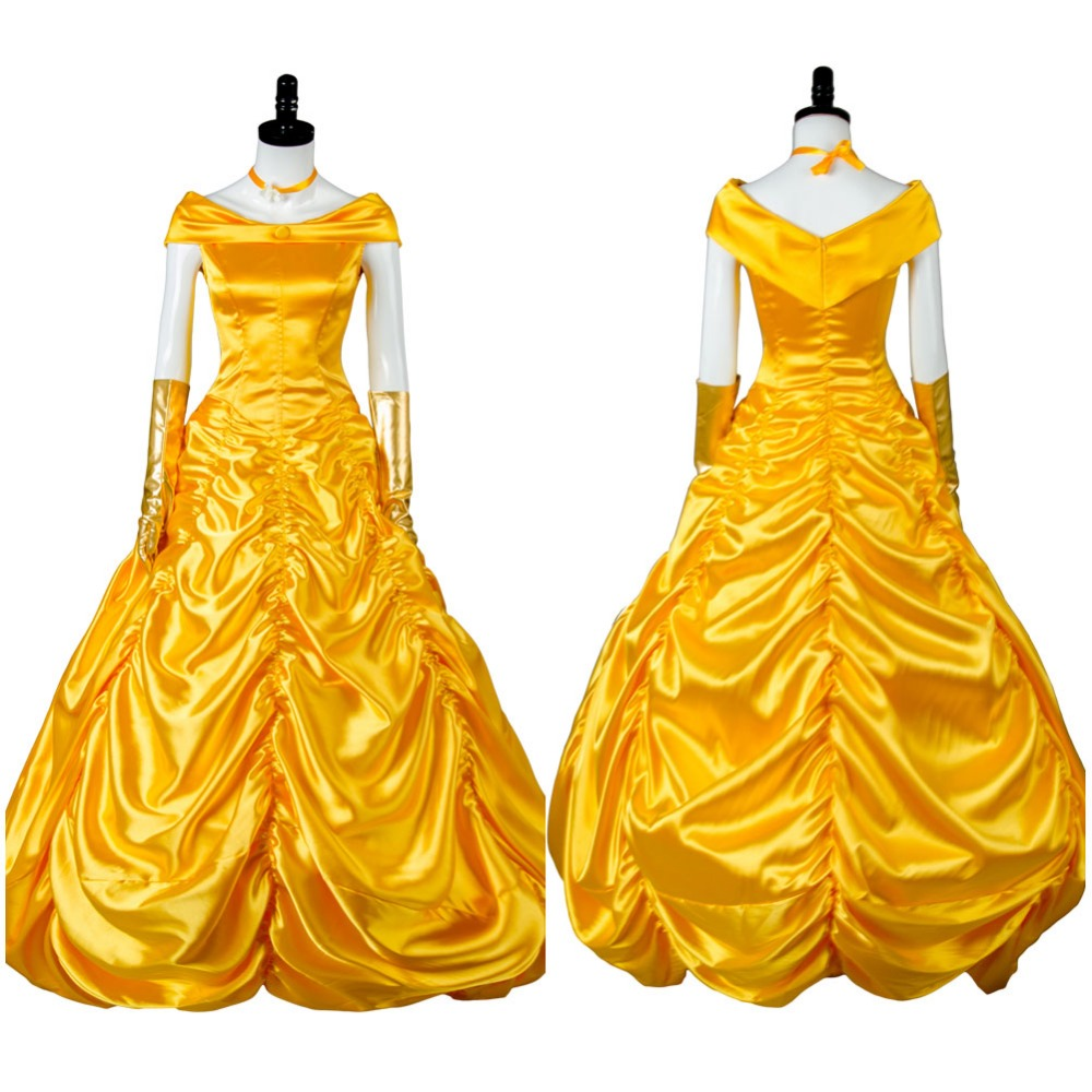 Beauty And The Beast Belle Costume Custom Made Cosplay Fantasia Adult Princess Belle Costume Halloween Costume Women Full Set