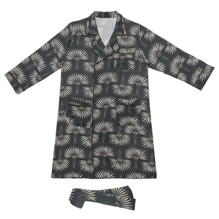 RenYvtil פשתן ליידי פיג 'מה להגדיר סגנון יפני כותנה עם שרוולים ארוכי גזה דש מתוק פרחוני מקרית סתיו אביב חליפת אימונית