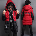 Boys Winter Parkas Coats Casual Warm Solid Kid Vestidos Fashion Children Down Jacket Thick Infant Hooded Clothing Outerwear 4-14