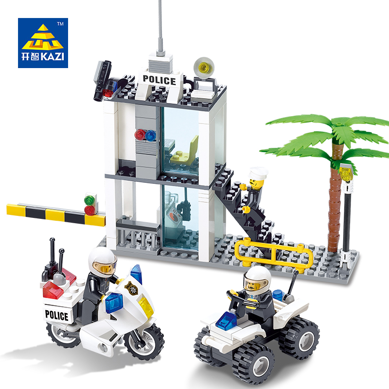 Kazi Building Blocks Toys Police Command Centre brinquedos Education Toys For Children DIY Bricks Building Blocks Sets rondell сковорода delice 20 см без крышки rda 072 rondell