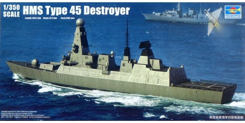Trumpet 04550 1:350 British Royal Navy type 45 destroyer Assembly model trumpeter ships model 06704 british royal navy hms dreadnought 1907