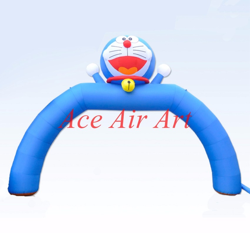 Customized Lovely Janpanese cartoon Inflatable Doraemon Arch for Theme Party,Promotion E ...