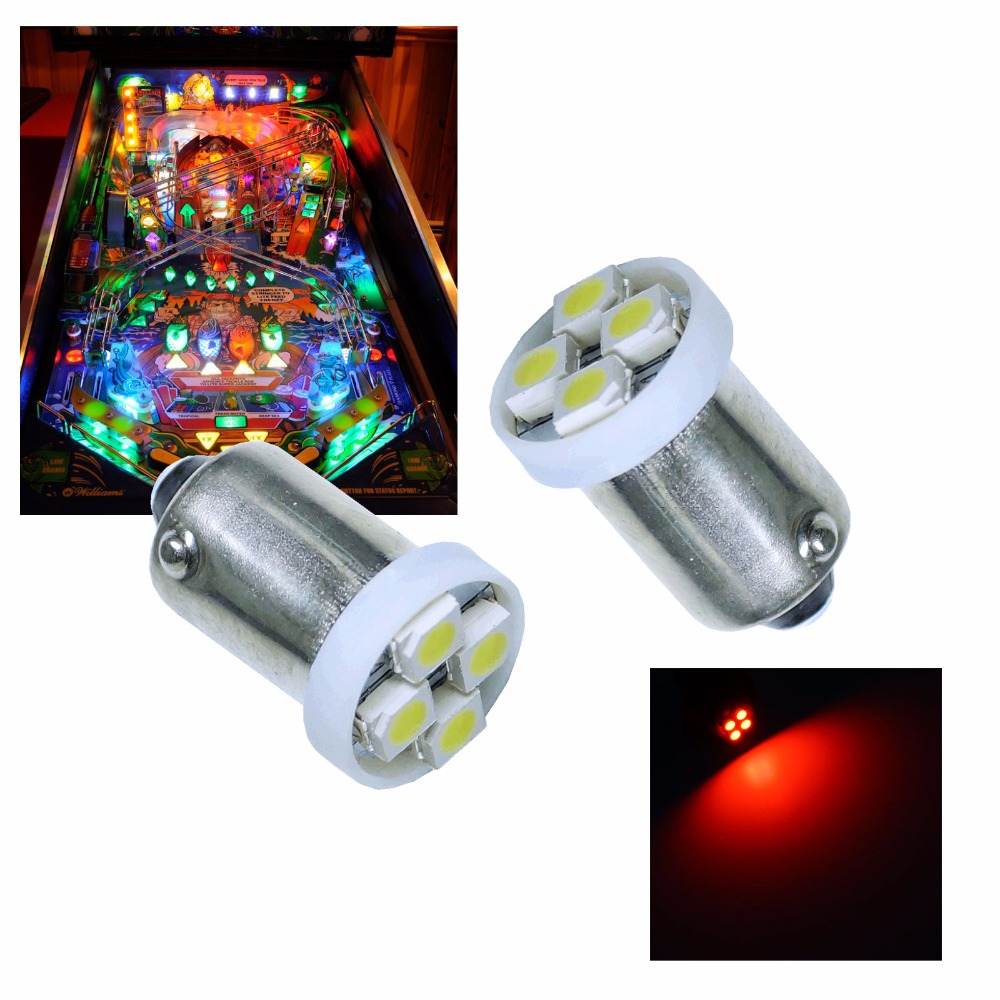 PA LED 50PCS x Red Yellow Green Blue White Purple Pink 6.3V 4SMD 3528 LED For Pinball Ma ...