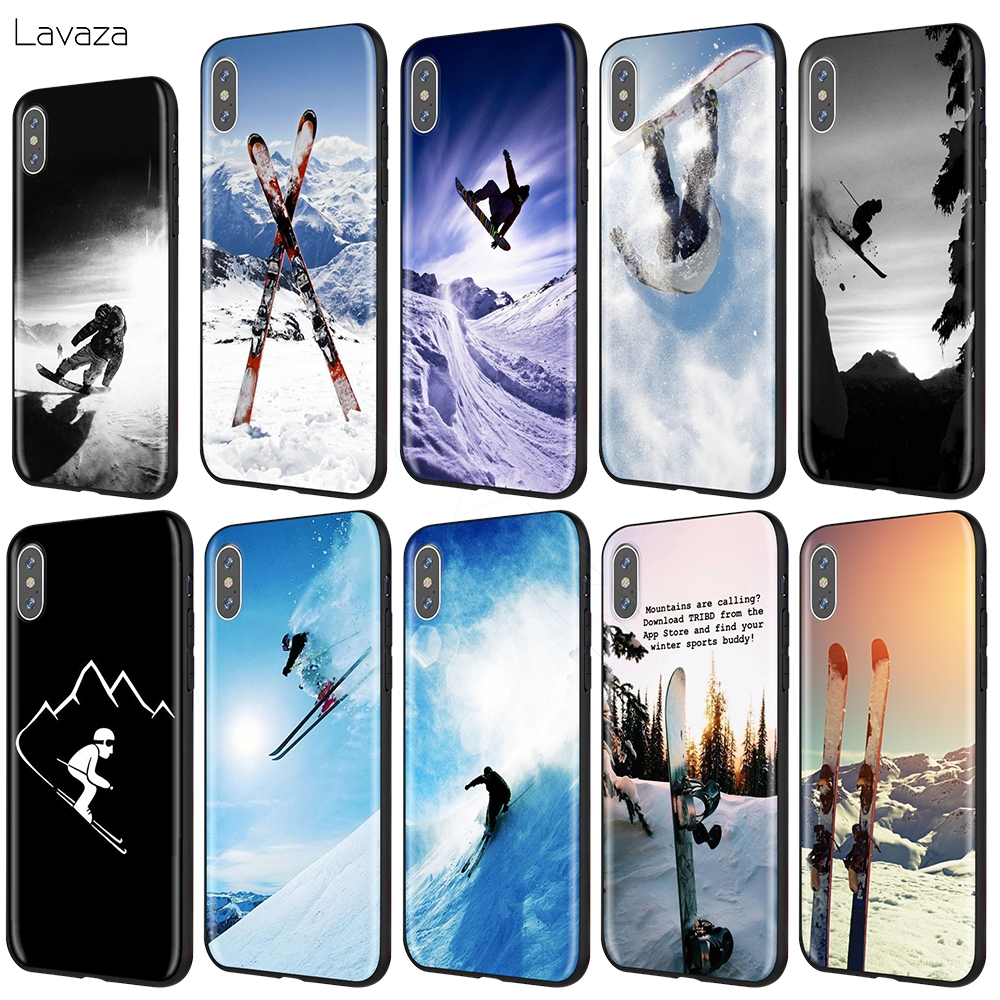Skiing/ Snowboard Skis Case for iPhone