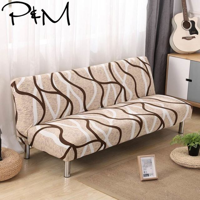 P&M Print Stretch Bed  Sofa Covers No Armrest Slipcovers Elastic Couch Cover