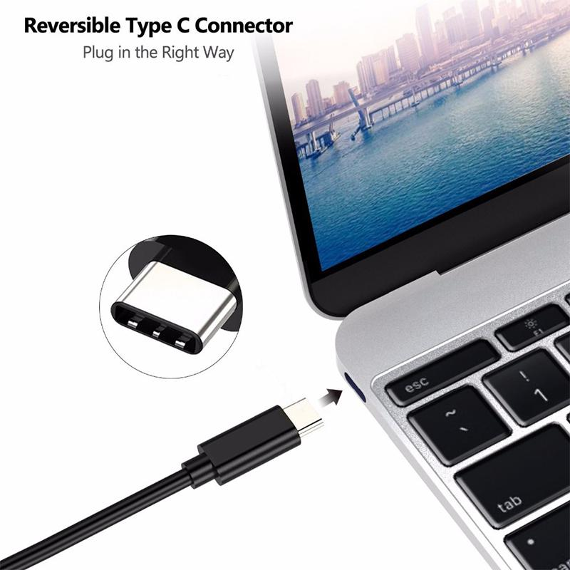 AOSANG Audio Cable 1 8M USB C TypeC USB 3 1 to HDMI 4k 2k HDTV Cable for Galaxy S8 S8Plus Cell Phone USB C to HDMI Adapter Cable in HDMI Cables from Consumer Electronics