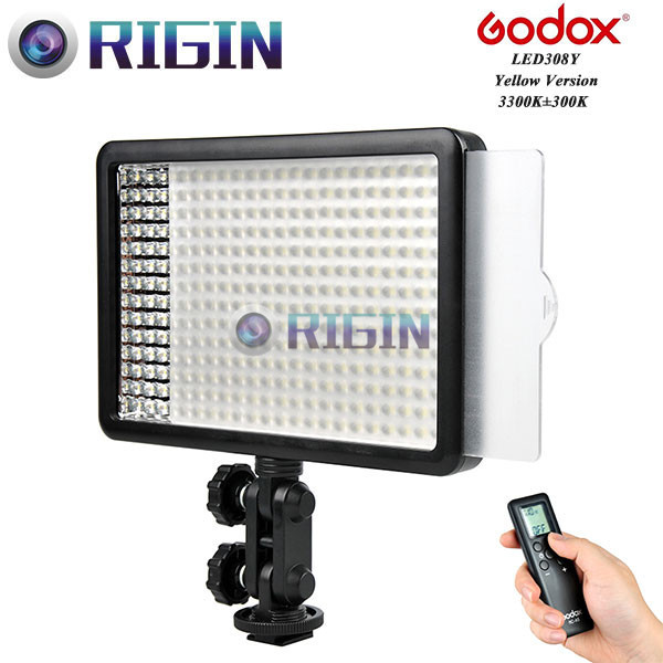 Godox Professional LED Video Light LED308y Yellow Version Wireless 433MHz grouping system 308 LED bulbs of  high brightness godox professional led video light led308y yellow version wireless 433mhz grouping system 308 led bulbs of high brightness