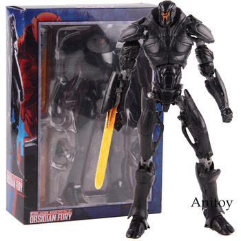 Pacific Rim Jaegers Obsidian Fury PVC Anime Pacific Rim Uprising Toys Side Jaeger Robot Toy Collectible Model Toys for Boy 18cm