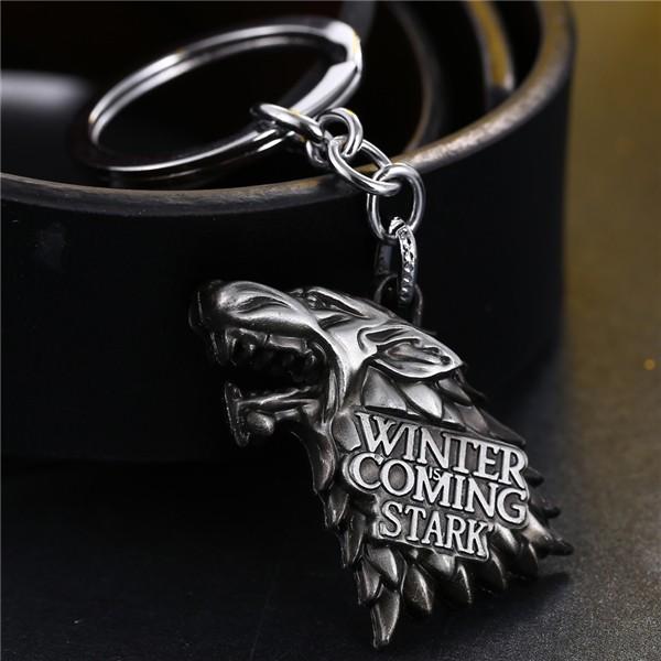 Game of Thrones Wolf Head Keychain