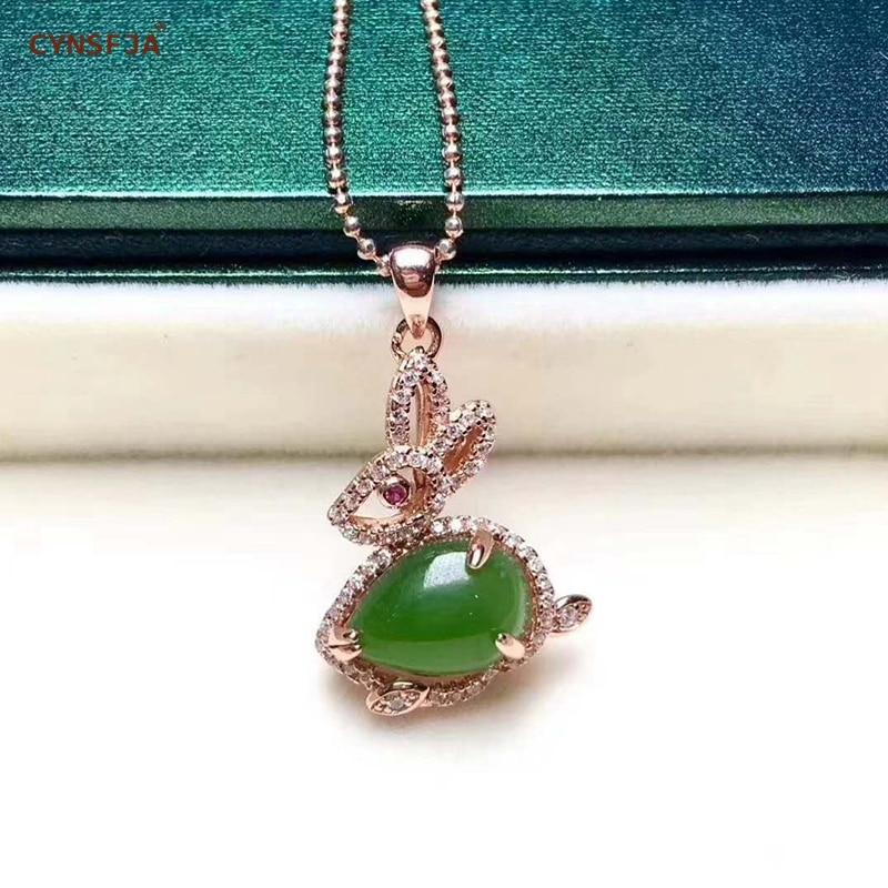 Certificado Natural Hetian Jasper Embutidos 925 Prata Esterlina Handmade Sorte Pingente de Jade Gelo Verde de Alta Qualidade Presentes Maravilhosos