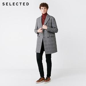 Image 3 - SELECTED Mens Autumn & Winter Fit Jeans Clothes Stretch Cotton Straight Denim Pants C