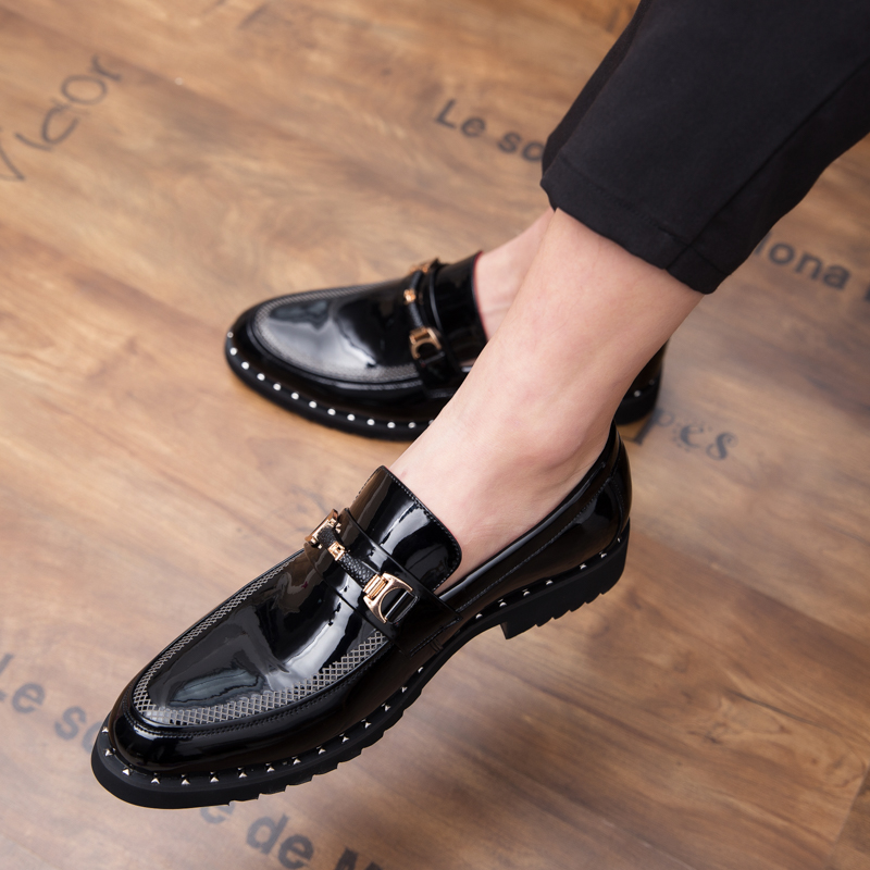 Leather men s shoes British business suit men s shoes outdoor fashion Leather wedding party shoes