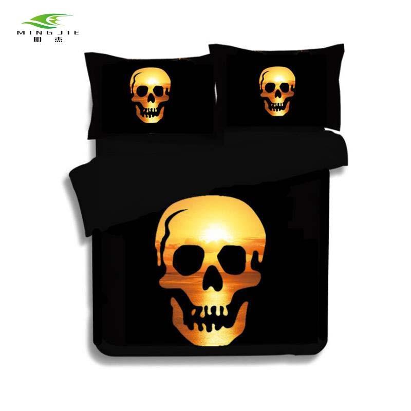 Noul schelet uman uman schelet negru cap moale-cap de design - Textile de uz casnic