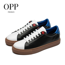 цены OPP Cow Leather Flats Fashion Shoes Genuine Leather Loafers For Men Shoes Moccasins Men's Casual Footwear Young Flats