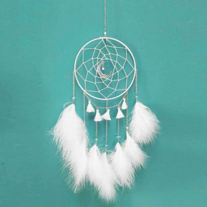 Dream Catcher Decor Handmade Bead Home Mini Dream Catcher with Feathers Office Wall Car Door Yard Garden Decoration 2018 New