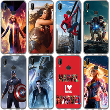 Fashion Phone Case For Huawei Honor 10 Lite 10 9 8 7A 7C 7X 7 6A Miracle Hero Iron Man Spiderman Soft Silicone TPU Painted Cover hj125 7 7a 7c 8 f 428
