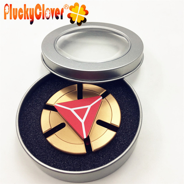 1 pc Ironman Shield Spinner Cool Aluminium Fid Spinner Red Gold