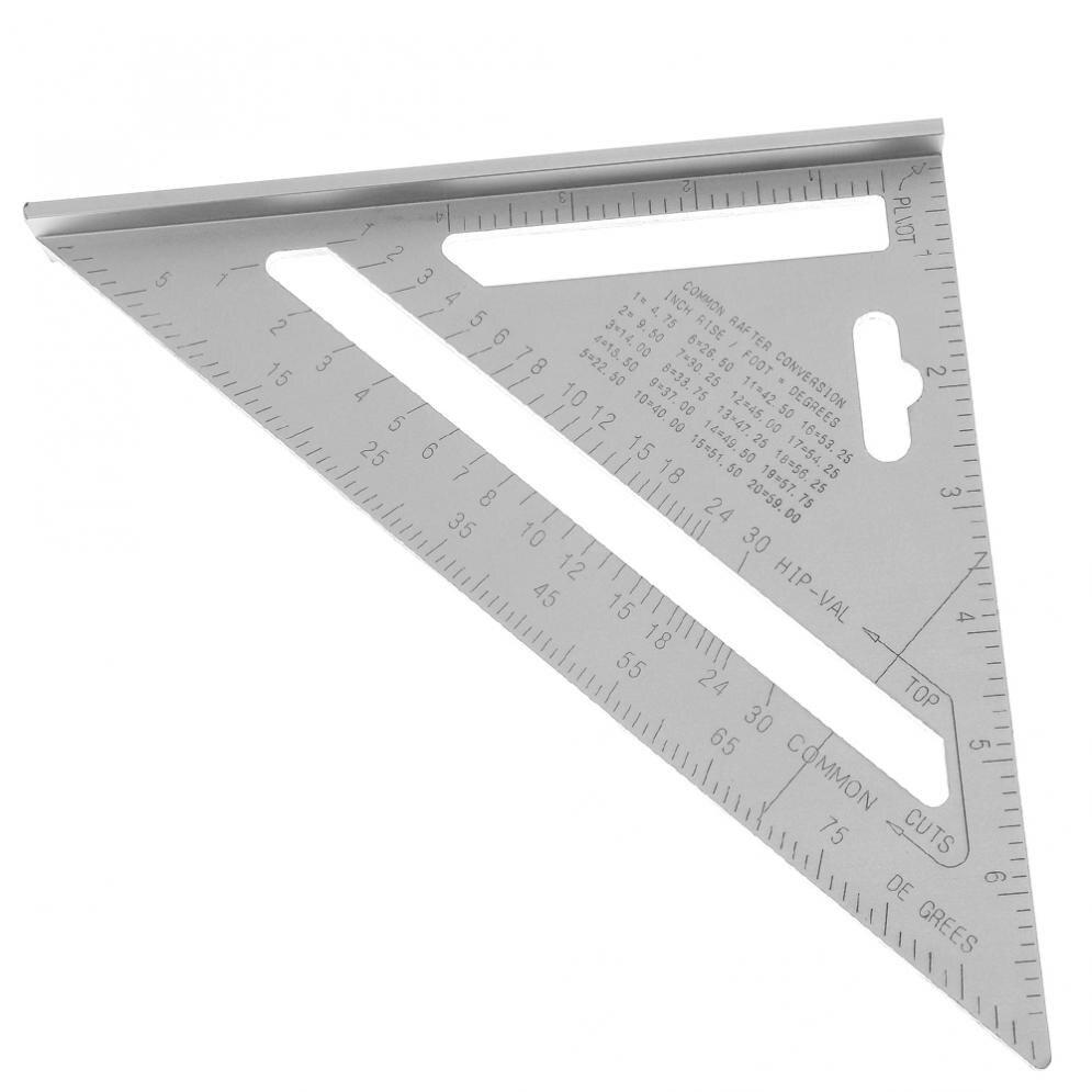Liga de Alumínio Valor para Medição Transferidor com 0.1 Precisão e 1 Novo Polegada Triângulo Ângulo Escala Industrial 7