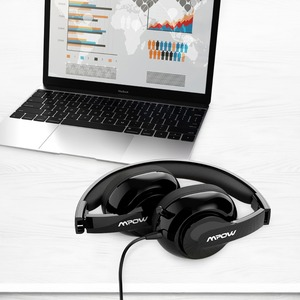 Image 3 - Mpow HC4 Wired Headphones For Call Center Retractable Microphone Fold able Headset USB/3.5mm Plug Headphone For Skype PC Tablet
