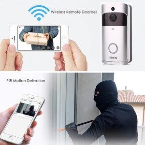 Image 4 - EKEN V5 WIFI dzwonek Smart IP wideodomofon wideodomofon kamera do drzwi do mieszkań IR Alarm bezprzewodowa kamera do monitoringu
