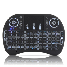RU ES FR 3 Color Backlight Wireless font b Keyboard b font Air Mouse With Touchpad