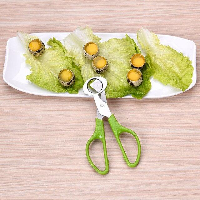 New Quail Egg Scissors Stainless Steel Egg Cracker Pigeon Quail Bird Opener Kitchen Tools Clipper Eggshell Cutter 4