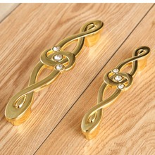 96mm 128mm fashion deluxe rhinestone handles yellow bronze k9 crystal gold  kitchen cabinet dresser drawer pulls knobs handle 5″