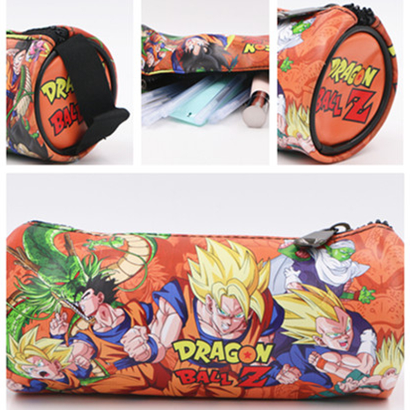 Dragon Ball Z Goku PU Pencil Bag Anime Pencil Case Kids Gift Stationery School Supplies Cartoon Material Escolar De Anime 18cm