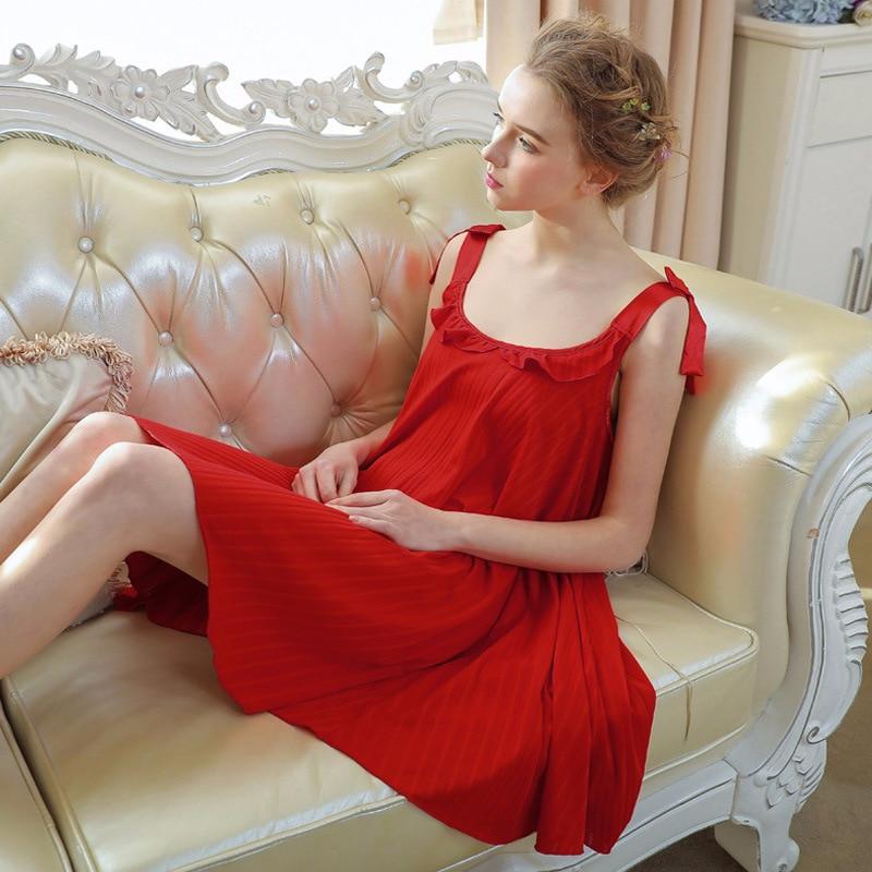 Cotton Nightgown Sleepwear Cotton Night Dress Sleepwear 0877