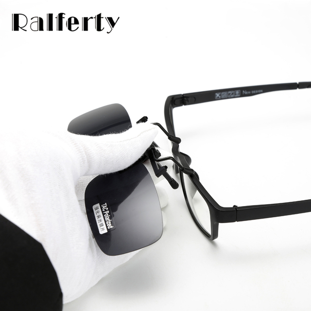 ebdfef4abf Ralferty Ultra Light Clip On Sunglasses Polarized HD Sun Glasses Driver  Night Vision Lenses Anti UVA Shades Women Men Goggles