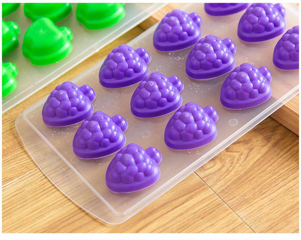 A nova proteção ambiental silicone do cubo de gelo bandeja de gelo mini pequena fruta molde acessórios de cozinha máquina de gelo bar beber