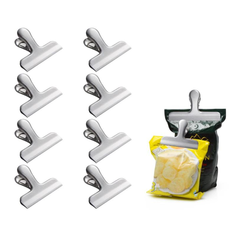 Stainless Steel Food Bag Clip Spring Clamp for Airtight Seal Clip cute