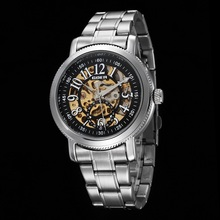 GOER brand men s watches Mechanical automatic male wrist watch Waterproof Luminous digital Skeleton Steel Leisure