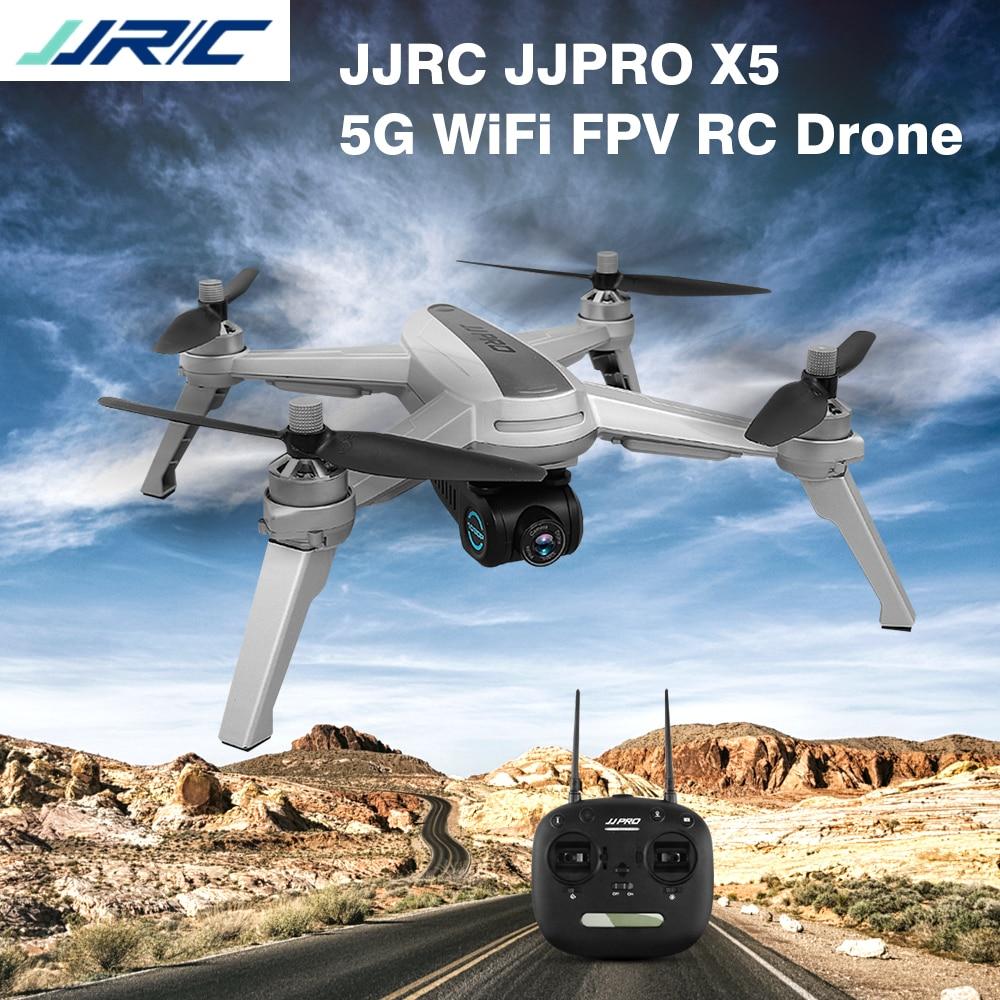 JJRC JJPRO X5 5G WiFi FPV RC Drone GPS Positionnement Maintien D'altitude 1080 P Caméra Point De Intéressant Suivre moteur Brushless Drone