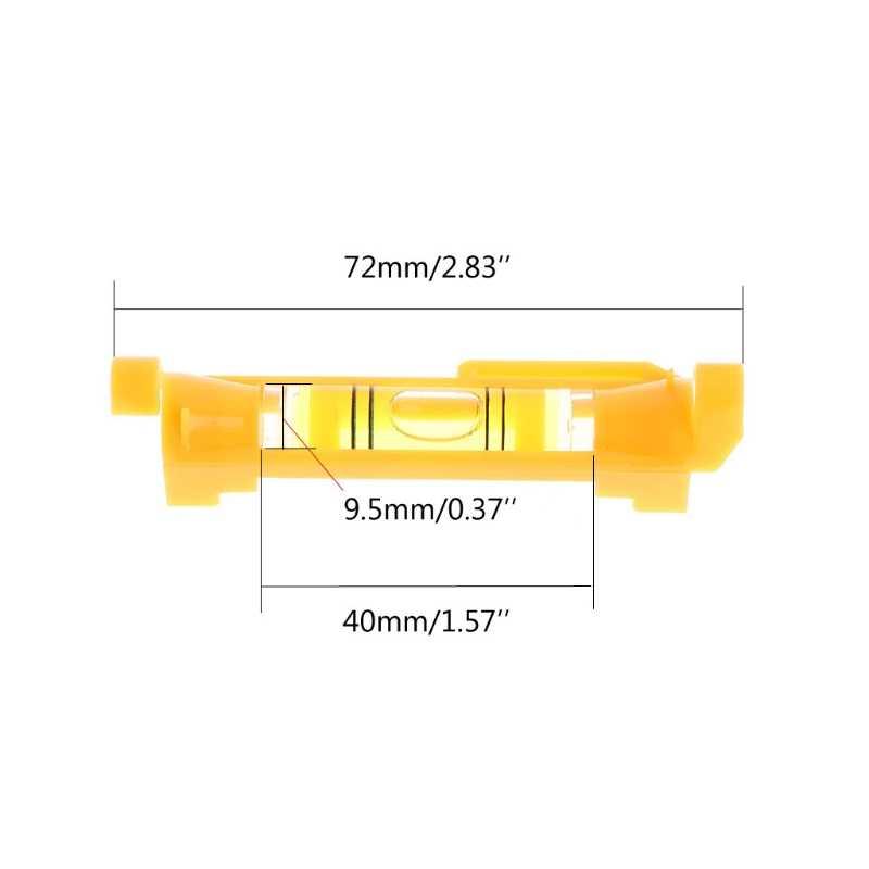 ANENG пластиковая ручка уровень фото межкадровая линия уровень мини пузырьковый спиртный уровень красный/желтый