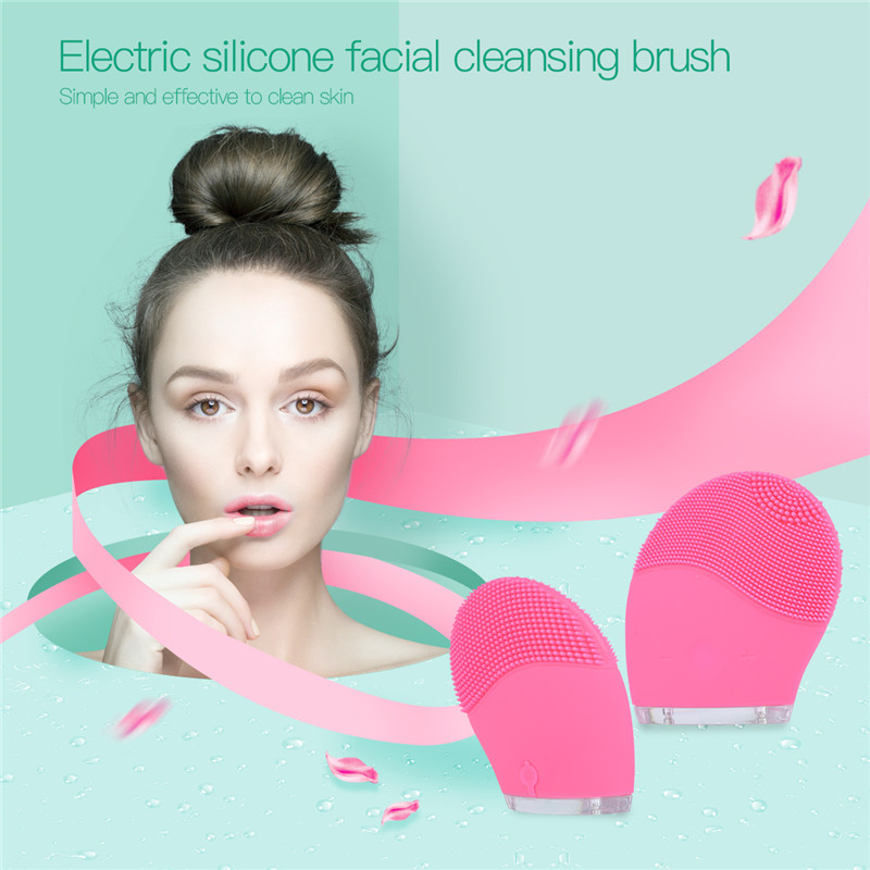Super Face Wash Brushes Machine Soft Silicone Facial Brush Cleanser Waterproof Design Health Beauty Your Face Women Cleansers Q0 deep face cleansing brush facial cleanser 2 speeds electric face wash machine