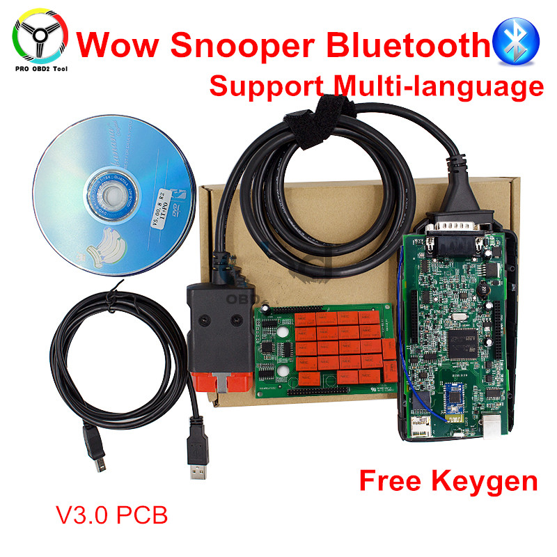 2017 Newest V5.00.12 / 5.00.8 R2 WoW SNOOPER With Bluetooth+Keygen Car Truck Diagnostic Tool WOW VCI Better Than TCS CDP PRO