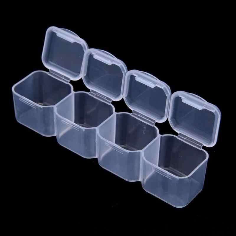 28/56 Nail Art กล่องเก็บ Rhinestones อัญมณีอุปกรณ์เสริมพลาสติกคอนเทนเนอร์ที่ว่างเปล่าสำหรับ Rhinestones ลูกปัดกล่องเครื่องประดับ