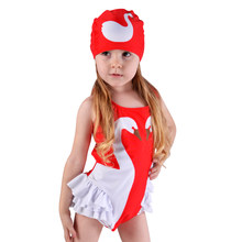 baby girls bathing suit two color Mosaic motion picture swimsuit Princess bathing suit(China)