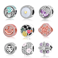 2016 100 925 Sterling Silver Clip Core Lock Safety Charm Beads With Chain DIY Jewelry Compatible