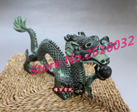 Античная бронза Дракон жемчужные украшения поймать фэн шуй Лаки Китая длинные JiXiang домашней обстановки ремесло украшения