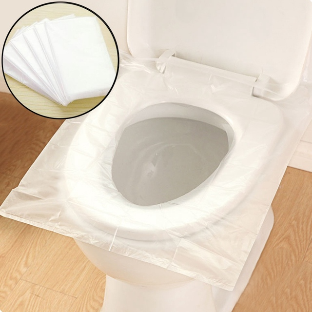 10Pack=60Pcs/lot Travel Sanitary Hotel Disposable Toilet Seat Cover WC Mat Waterproof Toilet Paper Pad Bathroom Accessories