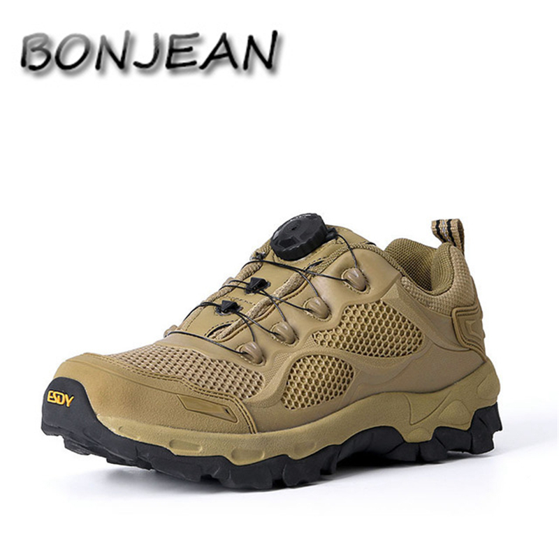 Men Tactical Military Boots Winter Leather Lace Up Combat Army Ankle Boots Mens Flats Safety Work Shoes Zapatos para caminar