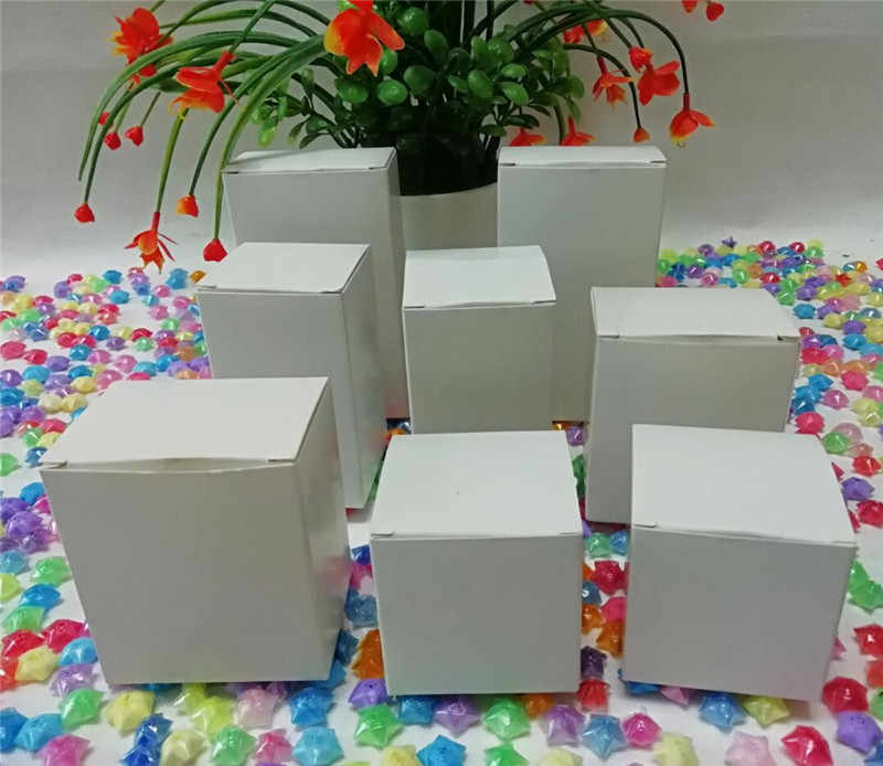 5pcs white kraft paper craft box small white soap cardboard paper packing/package box white paper candy gift soap packaging box